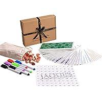 Juego de Juegos de Bingo de Jaques de Londres - Cartones de Bingo con Bolas / contadores de Bingo - Completo con Saco