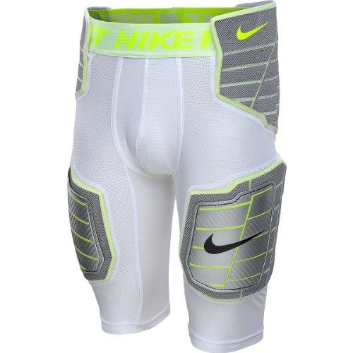 Nike Men's Pro Combat Hyperstrong 3.0 Harte Platte Fußball Girdle-White-XL (Nike Pro Combat Hose)