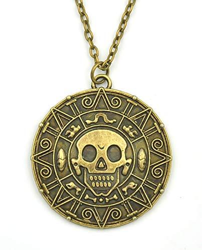 Fluch der Karibik Halskette mit Azteken Münze -