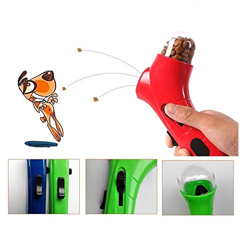 efanr Pet Snack Katapult Hund Feeder Launcher Füttern Kunststoff Training anreize Geräte Outdoor Educational Interaktives Spielen Funny Toys (Akkordeon-korb)