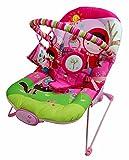 Just4baby Schwingstuhl in rosa, für Mädchen, mit Musik, beruhigenden Vibrationen und 3hängenden Spielzeugen