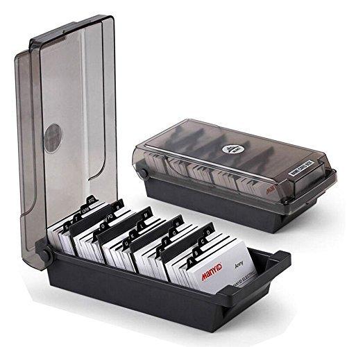 MyLifeUNIT Visitenkartenhalter, Name Card Organizer mit Trennfächern und Index Taben (500 Karten)