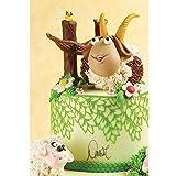 Cake Company Magic Decor Silikonmatte für essbare Spitzen-Deko | 80,5 x 390 mm |Silikon-Matte zum Backen als Blätter-Bordüre | Spitzen Präge-Bordüren für atemberaubende Verzierungen von Torten