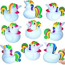German-Trendseller  - 12 x Magische Einhorn Enten - Lollypop ┃ ★ Neu ★ ┃ Party Quietscheenten ┃ Mitgebsel ┃ Kindergeburtstag ┃ 12 Stück