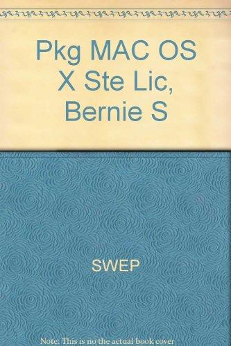 Pkg MAC OS X Ste Lic, Bernie S -