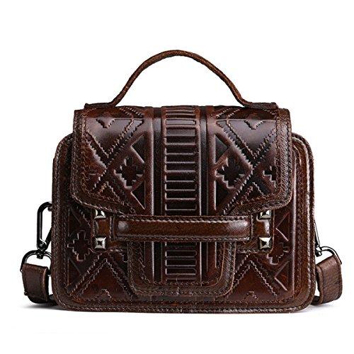 Damen Retro Schultertasche Aus Weichem Leder CrossBody Messenger Bags Für Frauen Handtaschen Office Girls Satchel Tote Handtasche Handtasche Brown
