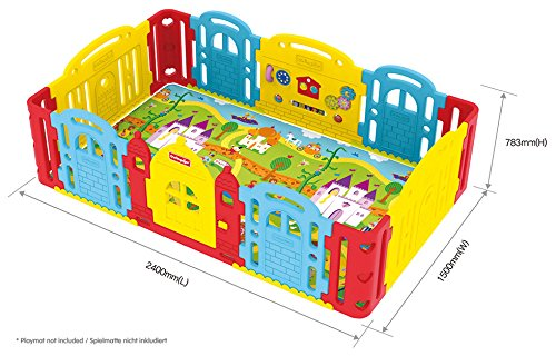 Dwinguler Castle Rainbow Playpen Child Lock Dwinguler Robust STABIL Secure door lock 4