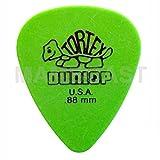 12 Jim Dunlop Tortex Standard Plettri colore verde - Player's Pack da 18 plettri 0.88 mm