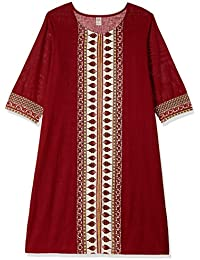 Amazon Brand - Myx Womens Cotton Straight Kurta