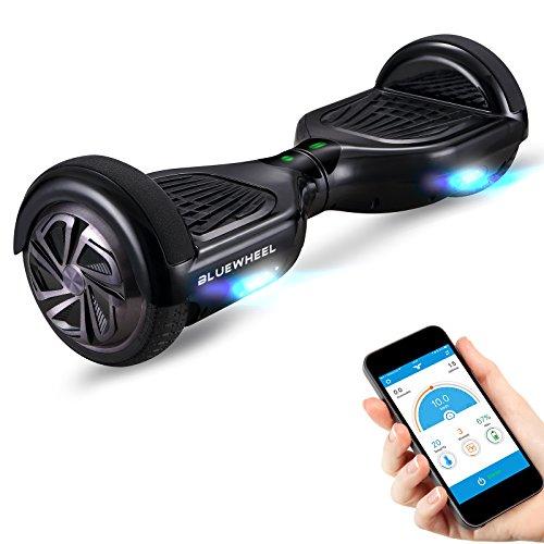 """Testsieger 6.5"""" Hoverboard Bluewheel HX320 mit UL2272 Sicherheitsstandard - Kinder Sicherheitsmodus mit App – Bluetooth Lautsprecher – 700W Motor – LED - Elektro Scooter Self-Balance E-Skateboard"""
