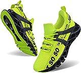 JSLEAP Schuhe Herren Laufschuhe Herre Damen Sportschuhe Straßenlaufschuhe Sneaker Joggingschuhe Turnschuhe Walkingschuhe Traillauf Fitness Schuhe (2 Leuchtendes Grün,Größe 46 EU/280 CN)