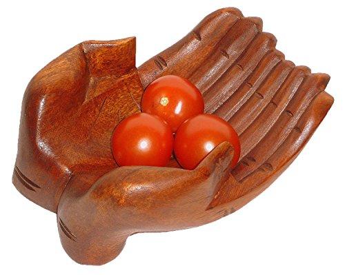 Holzschale Obstschale - Ablageschale - aus massivem Soar Holz Hand Schale