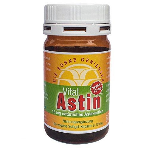 Astaxanthin - versandkostenfrei - VitalAstin vegan 100 Kapseln - Das Original Ivarssons VitalAstin mit 12 mg natürlichem Astaxanthin