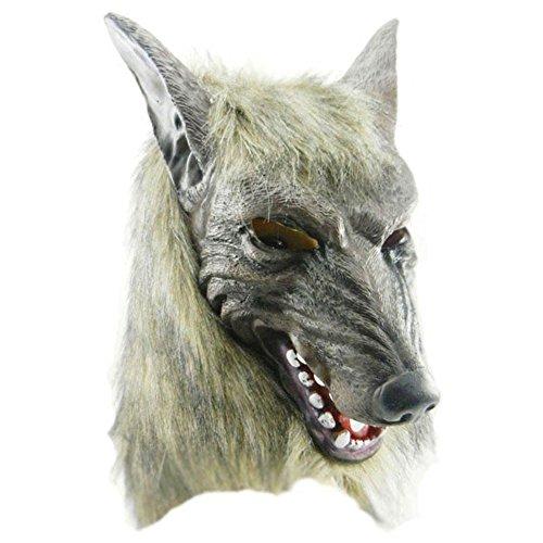 Masken für Erwachsene, WeGood Wolf-Maske für Halloween Neuheit Halloween Kostüm Partei Cosplay Maskerade Tierkopf Gummimasken - Erwachsene Maske Wolf Für