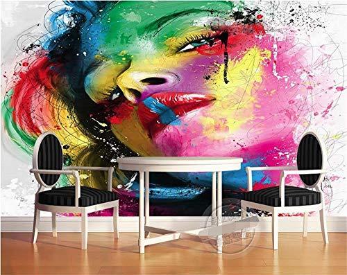 HDOUBR 3d fototapete wohnzimmer wandbild papst figur farbe schönheit gesicht malerei TV hintergrund vliestapete für wand 3d - 350x245 cm (137.8 by 96.5 in)