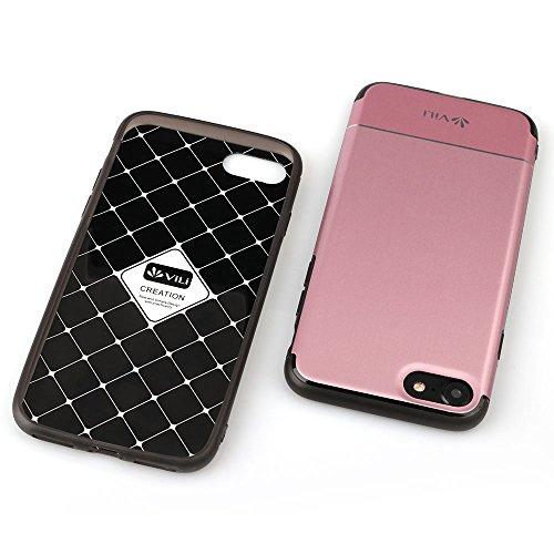 iPhone 7 Hülle, Feitenn Ultra Slim Case Crystal Clear Transparent Cover Soft-Flex Bumper Schale Flexibles Smartphone-Case Premium TPU Silikon Schutzhülle Durchsichtige Handyhülle Für iPhone 7 - Gold Rosa