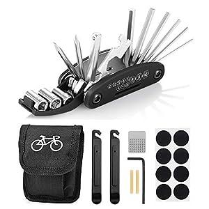 Fahrrad-Multitool, Migimi 16 in 1 Werkzeuge für Fahrrad Reparatur Set...