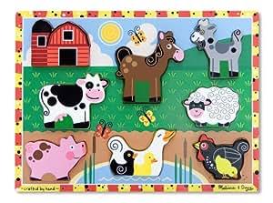 Melissa and Doug Farm Chunky Puzzle