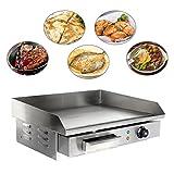 Ridgeyard 3000W Gastronomie Grillplatte Grill Bratplatte Bräter Griddleplatte Griddle Hause BBQ