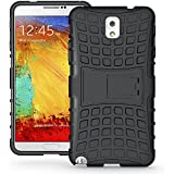 For Samsung Galaxy Note 3  : MACC Defender Series Dual Layer Hybrid TPU + PC Kickstand Case Cover for Samsung Galaxy Note 3  - Black