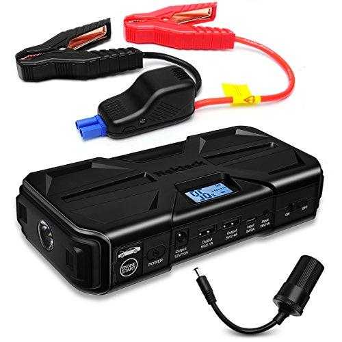 Preisvergleich Produktbild Nekteck 800A Spitzenstrom 20000mAh Multifunktion Tragbare Auto Starthilfe Autobatterie Anlasser Jump Starter Powerbank alle Typen Gas oder 5