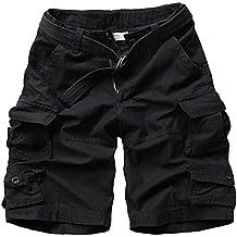 Pantalones Cortos Cargo Hombre Vintage Bermuda Shorts