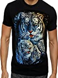 Super Save Direct uk Herren T Shirt Tiger Weiß Snow Indisches Bengal Tiger Tiger mit Jungen T Shirt Free P P & P