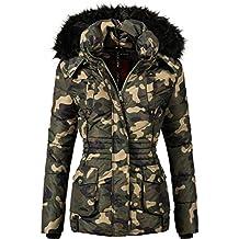 Mari Koo Femme Veste d'hiver veste matelassée fabriqué Vanilla (végétalien) 7couleurs + Camouflage XS à XXL