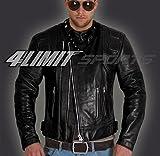 4LIMIT Sports Motorradjacke CRUISER retro oldschool Lederjacke brown