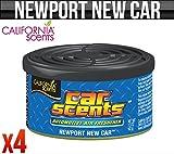 California Car Scents Newport Nouvelle Voiture Désodorisant Maison van Taxi Bureau X 4