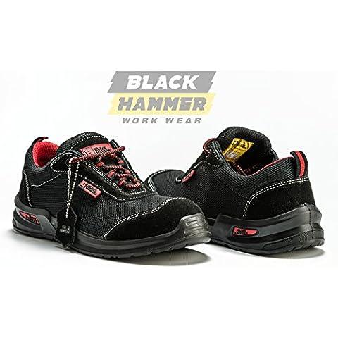 Botas Para Hombre De Seguridad Puntera De Acero Zapatos De Trabajo Tobillo Suela De Protección Media Unisex-adulto S1P CE aprobado 4482 Black