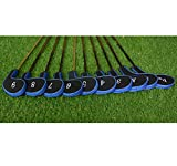 Set 10Golf Club Golf Schlägerkopfhüllen Head Schutzkappe für Eisen