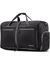 Gonex 80L Foldable Travel Duffel Bag for Luggage Gym Sports, Lightweight Travel Bag with Big Capacity, Water Resistant (Gray)