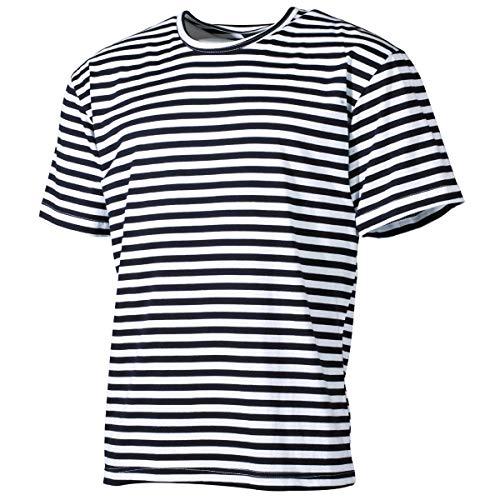 Shirt Russisch Kostüm - Russisches Marine T-Shirt rundhals blau-weiss S-XXXL S,blau-weiss