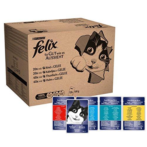 Felix-Katzennassfutter-in-Gelee-mit-Rind-Huhn-Kabeljau-und-Thunfisch-120-x-100-g