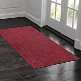 #7: Kuber Industries™ Dirt Rubb Off Clean Footwear PVC Thick Doormat for Offices,Hotel ,Restaurtaurant,Home,Shop Color- Maroon (Extra Large) Size : 90 cm x 60 cm x 1.5 cm