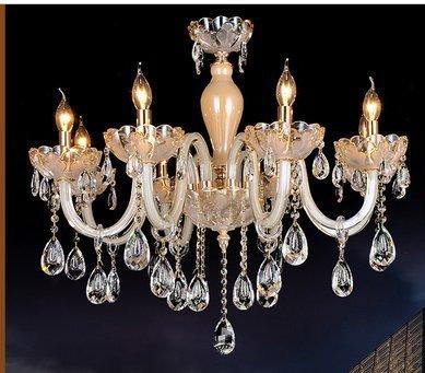 Gowe modernes Crystal Kronleuchter Lampe lustres de cristal Teto Sala lampadas LED Deckenleuchte Lampe Hause Beleuchtung Innen Lampe Deco Kronleuchter Lampenschirm Farbe: Grün Deco Lampenschirm