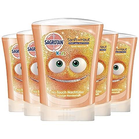 Sagrotan No-Touch Kids Nachfüller Spaßmacher Grapefruit, 5er Pack (5 x