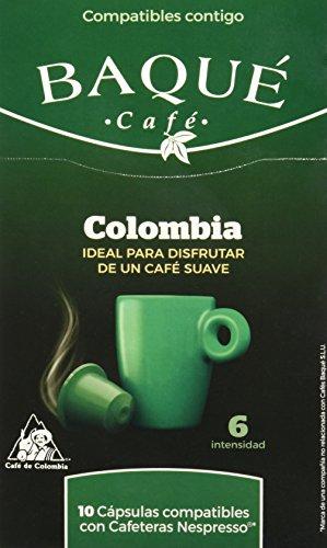 Cafés Baqué Cápsulas Compatibles Nespresso Colombia - 50 gr - [Pack de 3]
