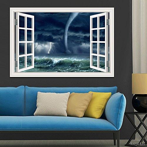 Tornado sul mare, adesivo da parete 3d Home Decor Room
