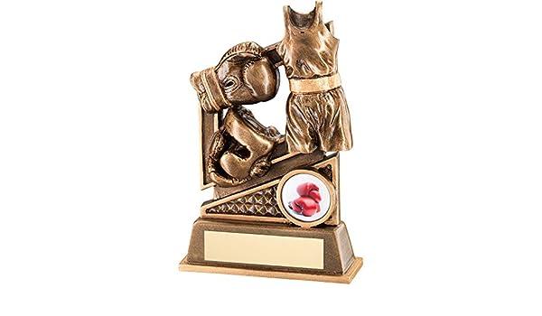 Trofeo-Guanti da boxe con design e anello in bronzo e oro in resina