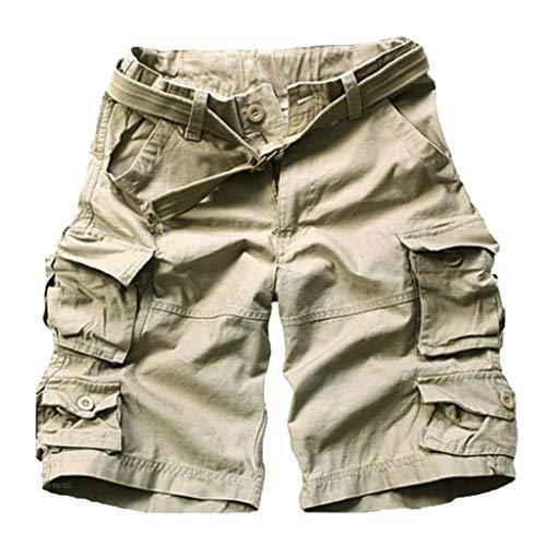 LSAltd Sommer Männer Casual Camouflage Pocket Overalls Shorts Kordelzug Lose Kurze Cargohosen