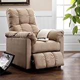 HomCom Heated Vibrating Suede Massage Recliner Chair - Red