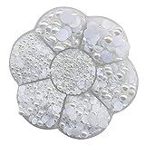 Chenkou Craft Halbrunde Perlen, flache Rückseite, lose Perlen, flower white