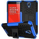 Voguecase® Para Xiaomi Redmi Note 2, Funda Carcasa Duro Tapa Case Cover con soporte (azul) + Gratis aguja de la pantalla stylus universales
