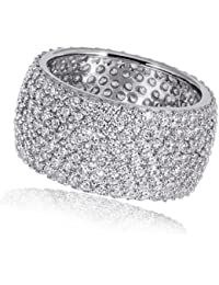 Goldmaid Damen-Ring 925 Sterlingsilber 272 klare Zirkonia