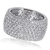 Goldmaid Damen-Ring Silber 925 Pavee 287 klare Zirkonia, Grösse 58
