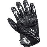 FLM Motorradhandschuhe kurz Sports Leder/Textilhandschuh 1.0 schwarz L