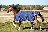Kerbl 323622 Outdoor-Pferdedecke, 145 cm, marineblau / rot eingefasst - 3