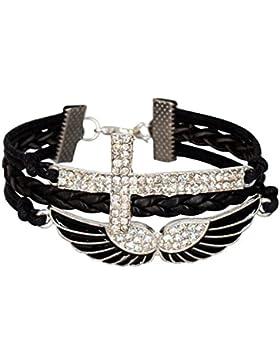 Rihanna hell Strass Flügel Eagle Angels Infinity Infinity Karma Armband